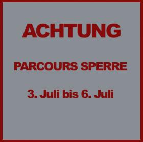 Parcours – Wegen Umbauarbeiten